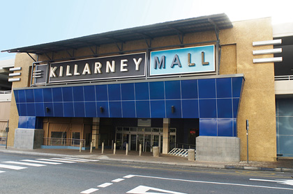 External cladding on Killarney Mall, South Africa
